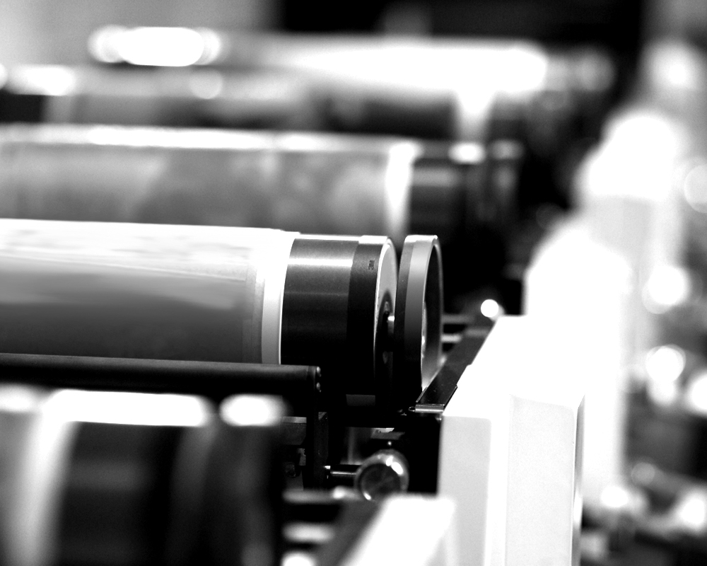 Photo of production presses.