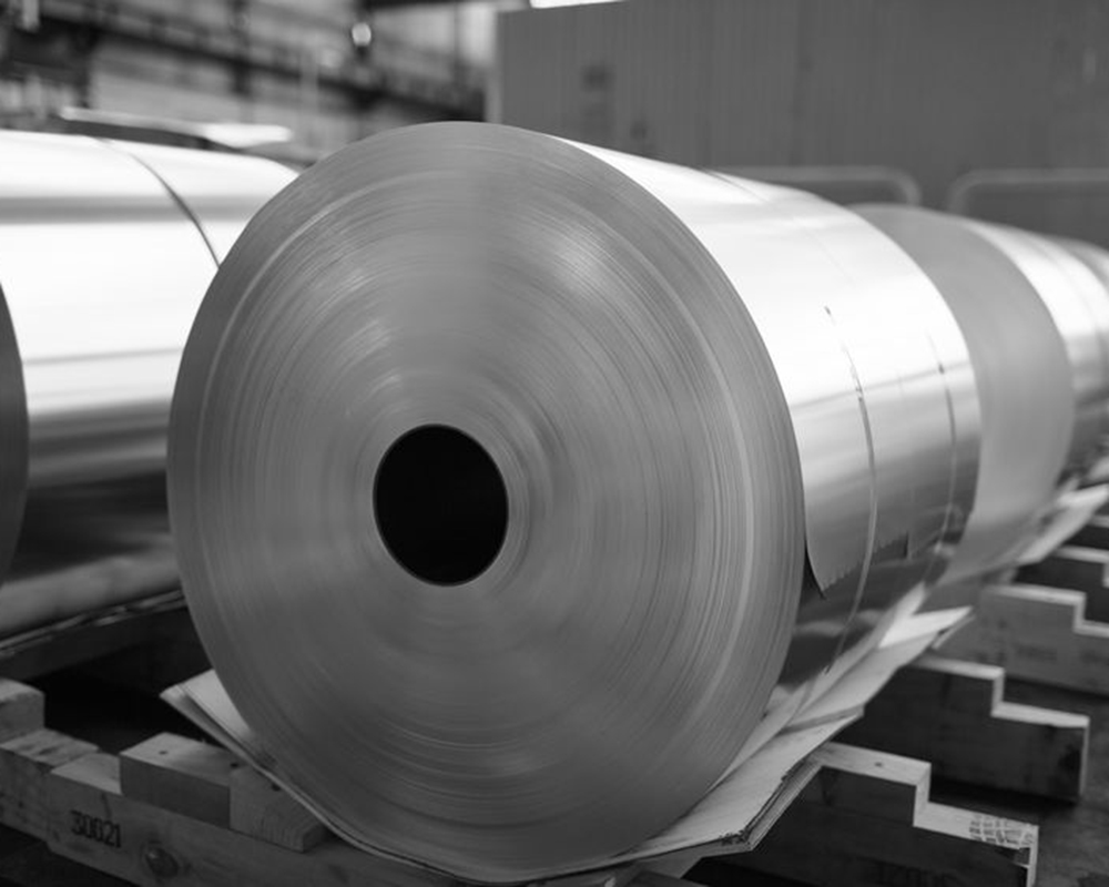 Metallic material on a press roll.