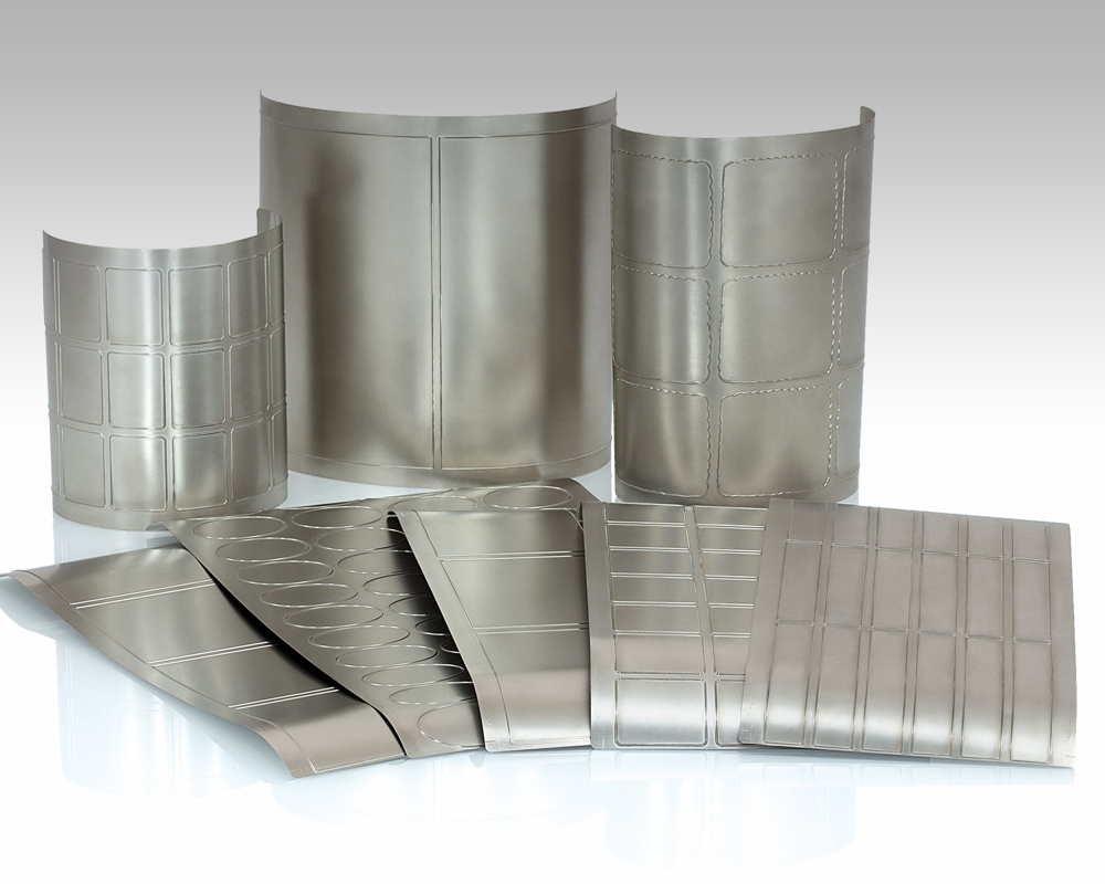 Photo of a grouping of foil and metallic materials.