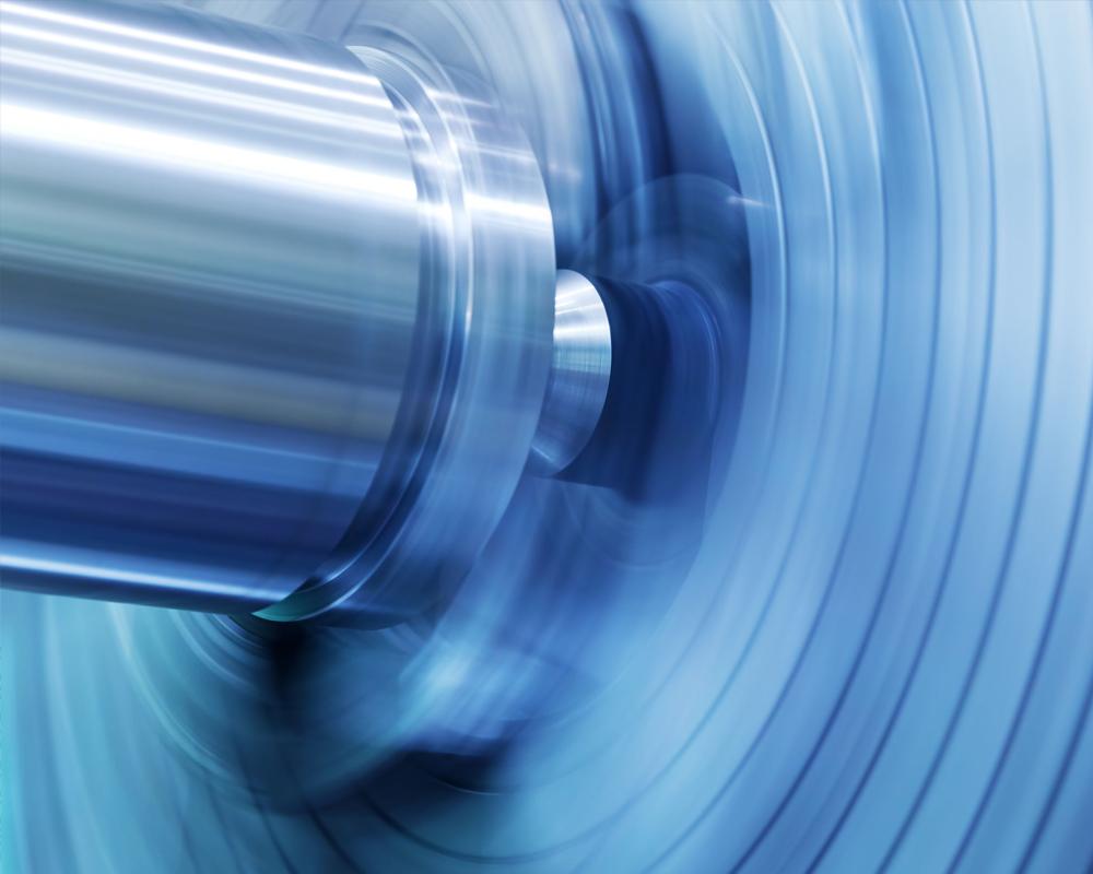 Abstract flexographic press roller photo.