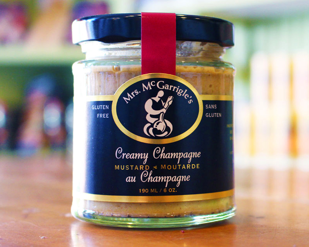 Photo of a mustard jar
